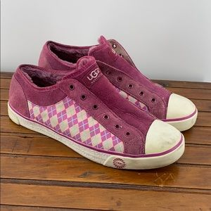 UGG 3072 Preppy Argyle Laceless Sneaker SZ 11 BIN2